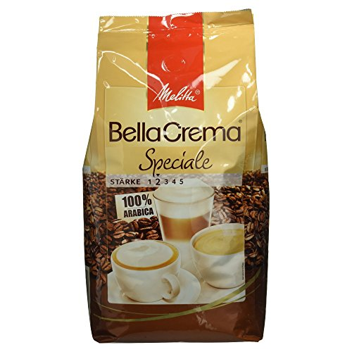 Preisvergleich Produktbild Melitta Ganze Kaffeebohnen,  100% Arabica,  milder Geschmack,  leichter Charakter,  Stärke 2,  BellaCrema Speciale,  1kg
