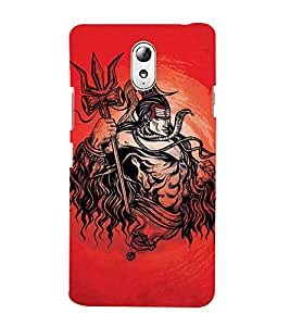 Vizagbeats Lord Maha Shiva Back Case Cover for Lenovo Vibe P1m