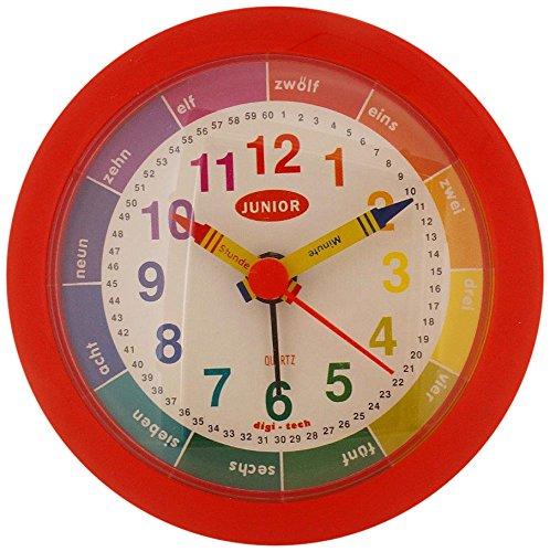 DigiTech Wecker mit eine Digitale Kinderuhr, Plastik, Rot 10 x 4 x 10 cm (Watch Mickey Digital Mouse)