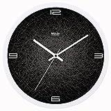 ZHDC® Clock orologi a muro Soggiorno Camera da letto di personalità Muto creativo semplice dell'orologio decorativo quarzo Orologio Home wall clock ( Colore : #3 , dimensioni : 25*25cm )