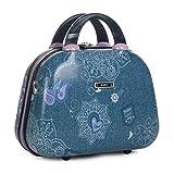 SKPA T - 54735 Neceser rígido policarbonato PC grande de viaje, maleta de aseo. Cierre cremallera...