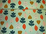 Jersey Stoff / Kinder / Blätter / Herbst