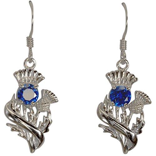 g Silber Schottische Distel Ohrringe