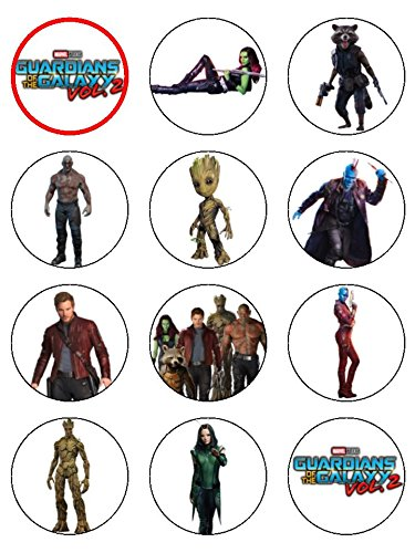 30,5 x 5,3 cm Guardians Of The Galaxy 2 Essbarer Zuckerguss Geburtstag Cup Cake Topper