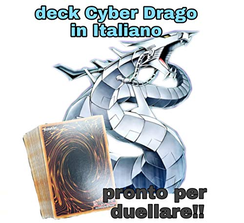 mazzo Yu-Gi-Oh Completo Ready to Play - Deck Cyber Drago 40 Carte Italiano Pronto per Giocare