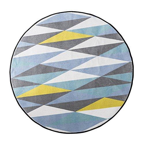 Mjb Kreative Geometrische Muster Rund Groß Teppich Multifunktional Korb Kissen Wohnzimmer Schreibtisch Warm Deko Teppich, 150 * 150cm-b -