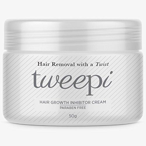 Tweepi Croissance De Cheveux Inhibiteur crème - Permanent corps et visage épilation - Temps Modernes Anti Oeuf crème - Parabène Sans FABRIQUÉ EN Royaume-Uni - 50G