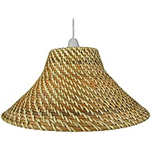 Amazon natural wicker lamp shade factory 15 light brown core brown coolie wicker lampshades c82 aloadofball Gallery