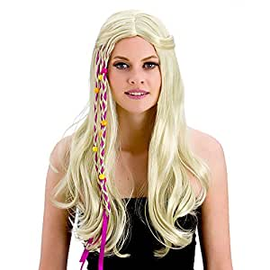 Adult Unisex Groovy Hippie Wig (Blonde) Outfit Accessory for Fancy Dress