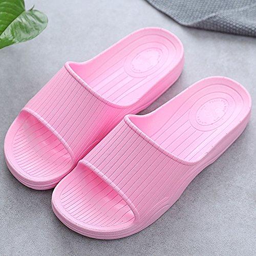 DogHaccd pantofole,Fondo morbido maschio home ladies coppie estate piscina anti-skid bagno fondo spesso famiglia estate cool ciabatte di plastica Rosa