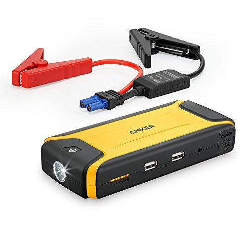 Anker Auto Starthilfe Akku Ladegerät mit 400A Spitzenstrom 10000mAh Höherer Sicherheitsschutz, eingebaute LED Taschenlampe (Orange)