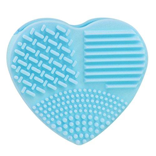 Supports de séchage de brosse de maquillage,Honestyi Lavage d'oeufs en silicone Gant de nettoyage Outil d'épuration de maquillage (Bleu ciel, 82*74*28MM)