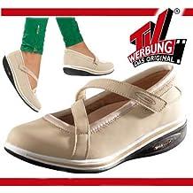 Walk Maxx Fitness Ballerina Gr.36-42 Sandale Sommerschuhe Damen Freizeit Schuhe