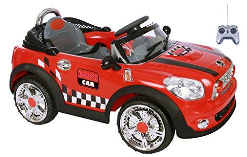 AUTO ELETTRICA MINI BABY CAR ROSSA BAMBINO CON RADIOCOMANDO MARIO SCHIANO