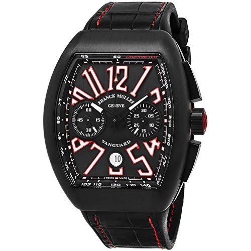 Franck Muller Vanguard Herren-Armbanduhr Armband Leder Automatik 45CCBLKBLKWHT