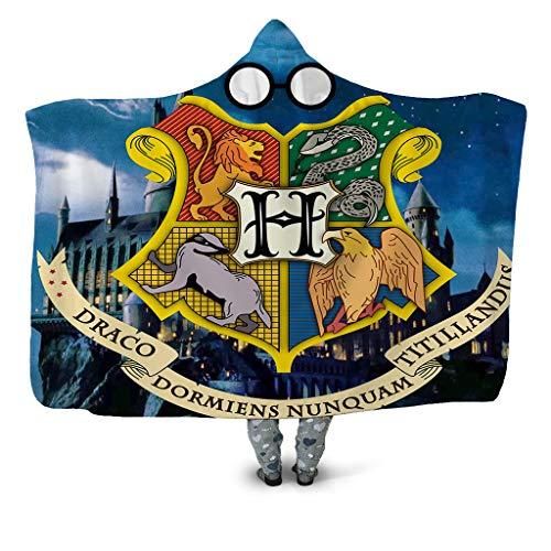 DNAN Manta con Capucha Impresa En 3D, Serie Harry Potter De Doble...