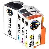 Pictech Kompatible Tintenpatronen Ersatz für HP 934XL 935XL Tintenpatronen für HP Officejet Pro 6230 6812 6815 6820 6830 6835 All-in-One Drucker ( 1x Schwarz, 1x Cyan, 1x Magenta, 1x Gelb )