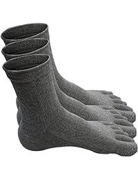 Traveler COOLTEX Zehensocken Socken aus Baumwolle Fein 100% für Herren - 3 Paar