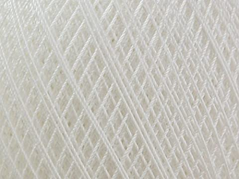DMC Babylo fil crochet coton Taille 30Blanc–par 100g Boule