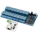 XCSOURCE Module de Relais de Commutation Contrôle Réseau 16 Canaux 5V 32 bits RJ45 Interface Internet des Choses TE744