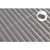 TOP MULTI PVC Sichtschutz-Matte für Balkon/Garten 0,8m x 3m in anthrazit-grau | Sichtschutz-Zaun inkl. Befestigung + wetterfest | Windschutz-Matte | Blende | Blickschutz-Zaun | Balkon-Verkleidung