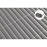 TOP MULTI PVC Sichtschutz-Matte für Balkon/Garten 1m x 5m anthrazit-grau | Sichtschutz-Zaun inkl. Befestigung + wetterfest | Windschutz-Matte | Blende | Blickschutz-Zaun | Balkon-Verkleidung