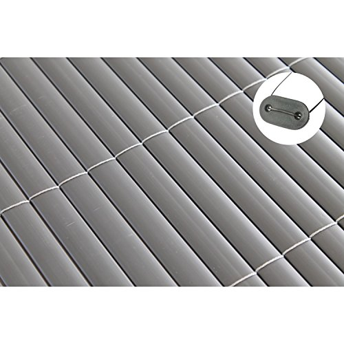 TOP MULTI PVC Sichtschutz-Matte für Balkon/Garten 1,2m x 3m anthrazit-grau   Sichtschutz-Zaun inkl. Befestigung + wetterfest   Windschutz-Matte   Blende   Blickschutz-Zaun   Balkon-Verkleidung