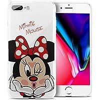 """Funda transparente ShopInSmart®, de silicona TPU, con diseño de dibujos animados Disney para desear """"Feliz Navidad"""", para Apple iPhone 8 Plus, 5,5"""""""