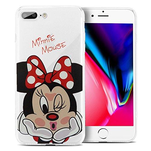 ShopInSmart® Transparente Silikon TPU Handy Schutzhülle mit Motiv Cartoon Disney Fröhliche Weihnachten! für Apple iPhone 8 Plus 5.5