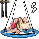 Trekassy 300KG Nestschaukel für Kinder Erwachsene Garten Indoor mit 100cm Sitzflächendurchmesser und 2 600KG...