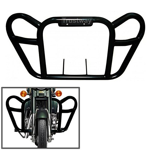 Dhe Best LG-52 Bike Bullet Butterfly Style Front Leg Guard Safety Protector Crash Bar Black for Royal Enfield Thunderbird 350 Model 2