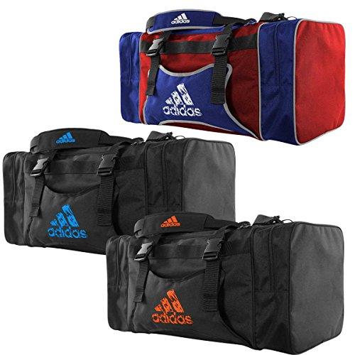 Borsone adidas team bag con porta corazza nero - arancio fluo