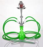4 Manguera 58 cm Hookah Shisha Narguile agua tubo vidrio fumar venta H-1483