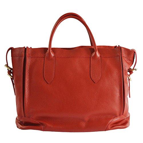CTM Élégant sac à main de la femme, sac fourre-tout en cuir véritable italien molle fabriqué en Italie 37x30x15 Cm