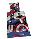 Herding 4448201050 Bettwäsche Captain America - Civil War, Baumwolle, bunt, 135 x 200 x 2 cm