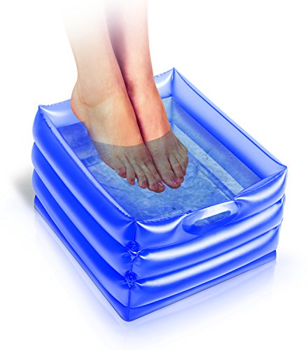 UPP Fuß-Bad mit Massagefunktion - ideal für Reisen da aufblasbar - INKl. Pumpe und Massagegerät - Entspannung & Relaxation für wenig Geld! (Füße Bad)