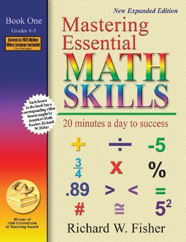 Mastering Essential Math Skills: 20 Minutes a Day to Success; Book One, Grades 4-5 by Richard W Fisher (2008-07-01)