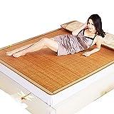Sommer schlafmatte, 3-Piece Bambusmatte König mat Doppelseitige faltung Klimaanlage-Matte Königin-A 150x195cm(59x77inch)