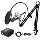 Tonor XLR zu 3.5 mm Kondensator-Mikrofon Kit Schall Podcast Studio Rundfunk &...