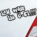 Auto Aufkleber in deiner Wunschfarbe Ich war im Ü-Ei!!! für Micra Twingo Smart Fans 20x7 cm Autoaufkleber Sticker