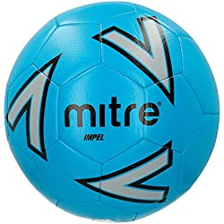 mitre Impel Ballon de Football Mixte Adulte, Bleu/Argent/Noir, Taille 5