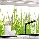 StickerProfis Küchenrückwand selbstklebend - Wiesen Gras - 1.5mm, Versteift, alle Untergründe, Hart PVC, Premium 60 x 80cm