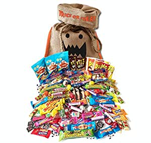 British Halloween Trick Or Treat Retro Candy Bag | 100 pcs / 2.2 Pound English Nostalgic Sweets Assortment
