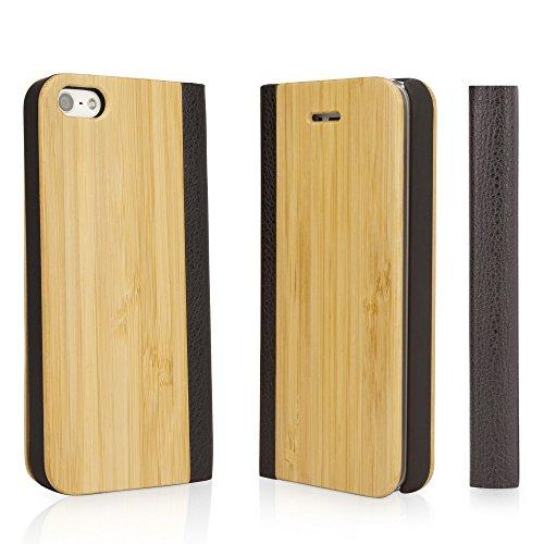 Boxwave true apple iphone 5s/iphone 5custodia a libretto con bambù–bamboo book style cover fornisce durevole, fatto a mano, protezione naturale per il vostro iphone 5o iphone 5s (naturale)