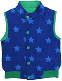 Toby Tiger Cord Blue Star Single Breasted Boy's Gilet
