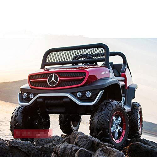 AHangcc, Auto elettrica per Bambini per Mercedes Benz Jeep, 12 V, Colore Rosso