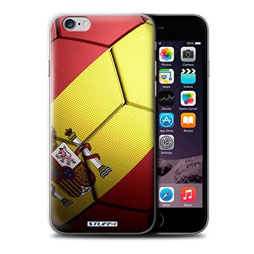 Stuff4 Hülle / Hülle für Apple iPhone 6 / Portugal Muster / Fußball Nationen Kollektion Spanien/Spanische