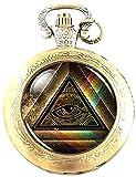 Reloj analógico de Cuarzo con el Logotipo de Illuminati, en Caja de Regalo y batería de Repuesto
