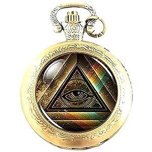 Illuminati Quarz-Armbanduhr, mit Logo, analog, in Geschenkbox und gratis Ersatzakku