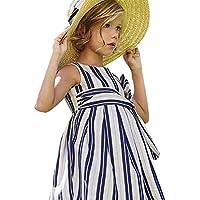 RWINDG Baby-Mädchen-Kind Scherzt Gestreiften Bügel Zip Kleider Kleidung Prinzessin Casual Dress Baby Bekleidungsset... preisvergleich bei billige-tabletten.eu